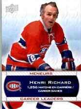 2008-09 Upper Deck Montreal Canadiens Centennial Set Henri Richard #235