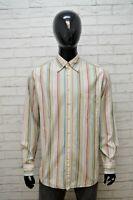 Camicia Uomo GANT Regular Taglia XL Polo Camicetta Manica Lunga Shirt Men Righe