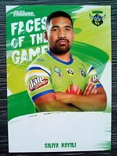 2019 NRL TRADERS 'FACES OF THE GAME' TRADING CARD - SILIVA HAVILI/RAIDERS
