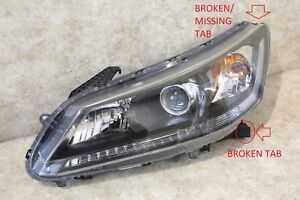 2013 2014 2015 HONDA ACCORD SEDAN DRIVERS LEFT SIDE HALOGEN HEADLIGHT OEM