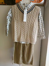 New with tag BabiesRus 3-Pc.long sleeve shirt, sweater & Pants 24months Nwt