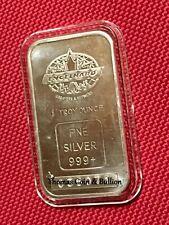Vintage 1981 Engelhard Canada 1 oz Silver Maple Leaf Minted Bar ~ Blank Back