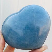 1.27LB Natural Blue Calcite Sphere Quartz Crystal Heart SHAPED Healing  E450