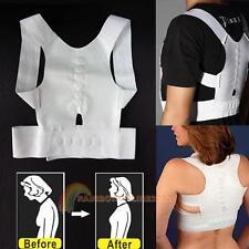 Back Support Brace Belt Adjustable Corrector Spine Therapy Band Posture Shoulder