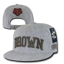 Brown University Bears NCAA Flat Bill Heather Gray Snapback Baseball Cap Hat