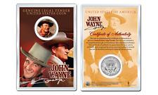 JOHN WAYNE - Chisum OFFICIAL JFK Half Dollar U.S. Coin in PREMIUM HOLDER