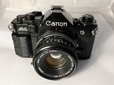 Canon A-1 Film Camera & Canon FD 50mm F1.8  S.C. Lens, New Seals, Excellent