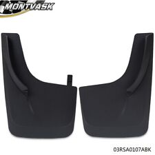 Pair Front & Rear Universal Mud Flaps Splash Guards Mudguard with Hardware