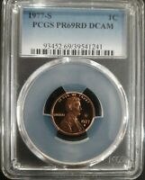 1977 S 1C Lincoln Cent  american coin Proof PCGS PR69DCAM