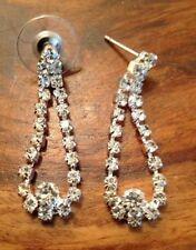 Butterfly Rhinestone Alloy Drop/Dangle Costume Earrings