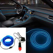 2M 12V EL Wire BLUE Cold light lamp Neon Lamp Car Atmosphere Lights Unique Decor