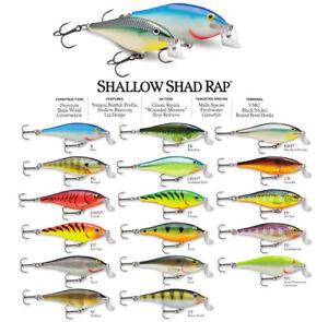 Rapala Shallow Shad Rap // SSR07 // 7cm 7g Fishing Lures (Choice of Colors)