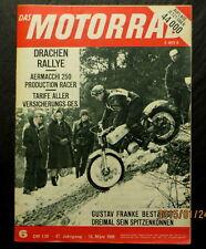Das Motorrad 06/65 Drachen-Rallye 1965,Die Geschichte einer Harley-Davidson 1965
