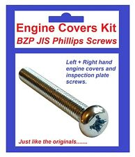 BZP Philips Engine Covers Kit - Kawasaki KX125 ('86-'91)
