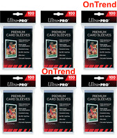 6 x Packs Ultra PRO Platinum Premium Card Soft 100 Sleeves Clear Protector 600