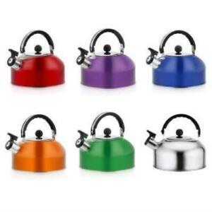 3L Tea Whistling Kettle Stainless Steel teapot Beeping Hemisphere Hot Water