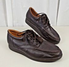 DREW Mens Brown Leather Shoes Sz 11 M Lace Up Brown Casual Orthopedic Lace Up