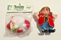 Vintage Old King & Santa In the Package Christmas Ornament