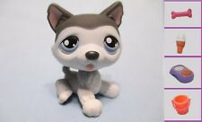 LITTLEST PET SHOP HUSKY #210 DIARY GRAY WHITE DOG+1 FREE Access. 100% Authentic