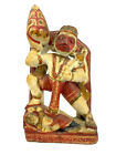 Sri Hanuman Carrying Herb Mountain 1890's Polychromed Marble Sculpture Very Fine