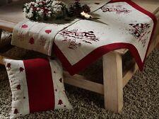 Weihnachten Dekokissen Kissenhülle Leinen natur rot Weihnachtsdeko 40x40 Typ174