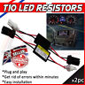 2 LED T10 501 ERROR CANCELLERS LOAD RESISTORS SIDE LIGHTS NO ERROR