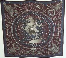 NWT Authentic Hermes Reversible Silk Scarf Carre 90cm C'est La Fete Skull
