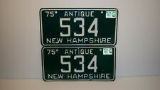 Matched pairdated 1975New HampshireAntique carlicense plates