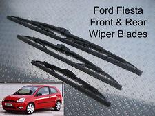 Front Rear Wiper Blades Ford Fiesta 2002 2003 2004 2005 Finesse LX Zetec Ghia