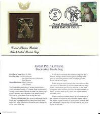 Great Plains Prairie-Black-tailed Prairie Dog-1st day issue-Golden Replica