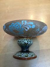 VINTAGE ANTIQUE 'SLATERS' PATTERN LAMBETH  DOULTON FOOTED BOWL