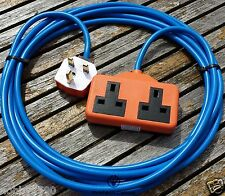10 METER HEAVY DUTY GARDENING 2 WAY  MAINS ELECTRICAL EXTENSION CABLE LEAD