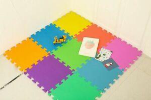 Kids  PlayMats Soft Foam Interlocking Play Mats Outdoor Activity 9Pc