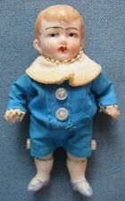 Vintage bisque boy doll in traditional Victorian dress; movable arms & legs (9)