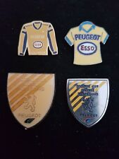 Lot 4 pins pin's football fc sochaux Montbéliard FCSM peugeot