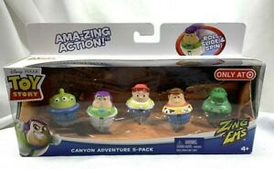 NEW TARGET EXCLUSIVE MATTEL TOY STORY CANYON ADVENTURE 5 PACK ZING EMS ALIEN REX