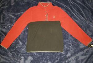 Spyder Red Fleece Pullover Mens Large
