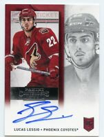 13/14 CONTENDERS ROOKIE RC TICKET AUTOGRAPH AUTO #238 LUCAS LESSIO COYOTES 46081