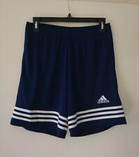 Mens Adidas Shorts Blue Size Medium Football, Gym, Casual