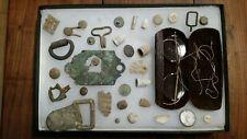 Civil War Relics, Bullets, Buttons, misc, dug Fredericksburg,Va in Display box 5