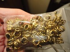 50 pieces golden alloy dragonfly motif 5mm hole bails hanging charms/pendants