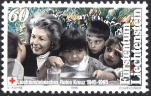 Mint stamp 50 years of the  Red Cross 1995  from Liechtenstein   avdpz