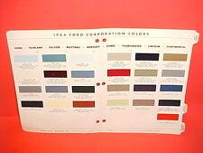 1966 FORD LINCOLN MERCURY MUSTANG THUNDERBIRD CONVERTIBLE RANCHERO PAINT CHIPS