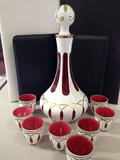Glass decanter pauly & Co. with shot glasses
