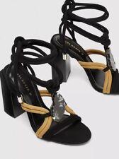 Zara Strappy Sandals Chunky Heels Stone Detail Multicoloured BNWT 7 40