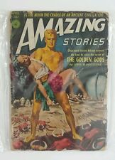 Lot of 4 Amazing Stories Mar 1949, April 1952, Oct & Dec 1947