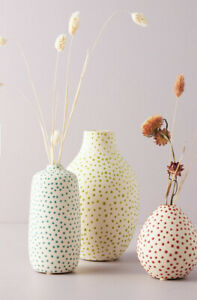 Anthropologie Dottie Vase Color Red Small