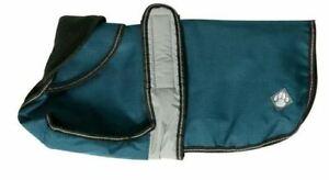 """Danish Design Dog Coat 2 in 1 - Blue - 50cm (20"""") Removable Fleece Waterproof"""