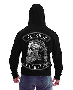 SEE YOU VALHALLA Zip Hoodie Wikinger Vikings Ragnar Odin Celtic Kapuzenpullover