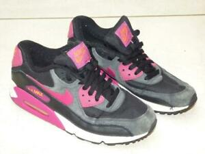Nike Air Max 90 Black and pink trainers shoes.  UK 7, EU 41